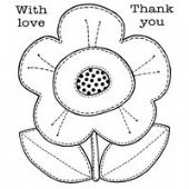 Woodware - Daisy Patch - Clear Magic Single Stamp Set - FRS005